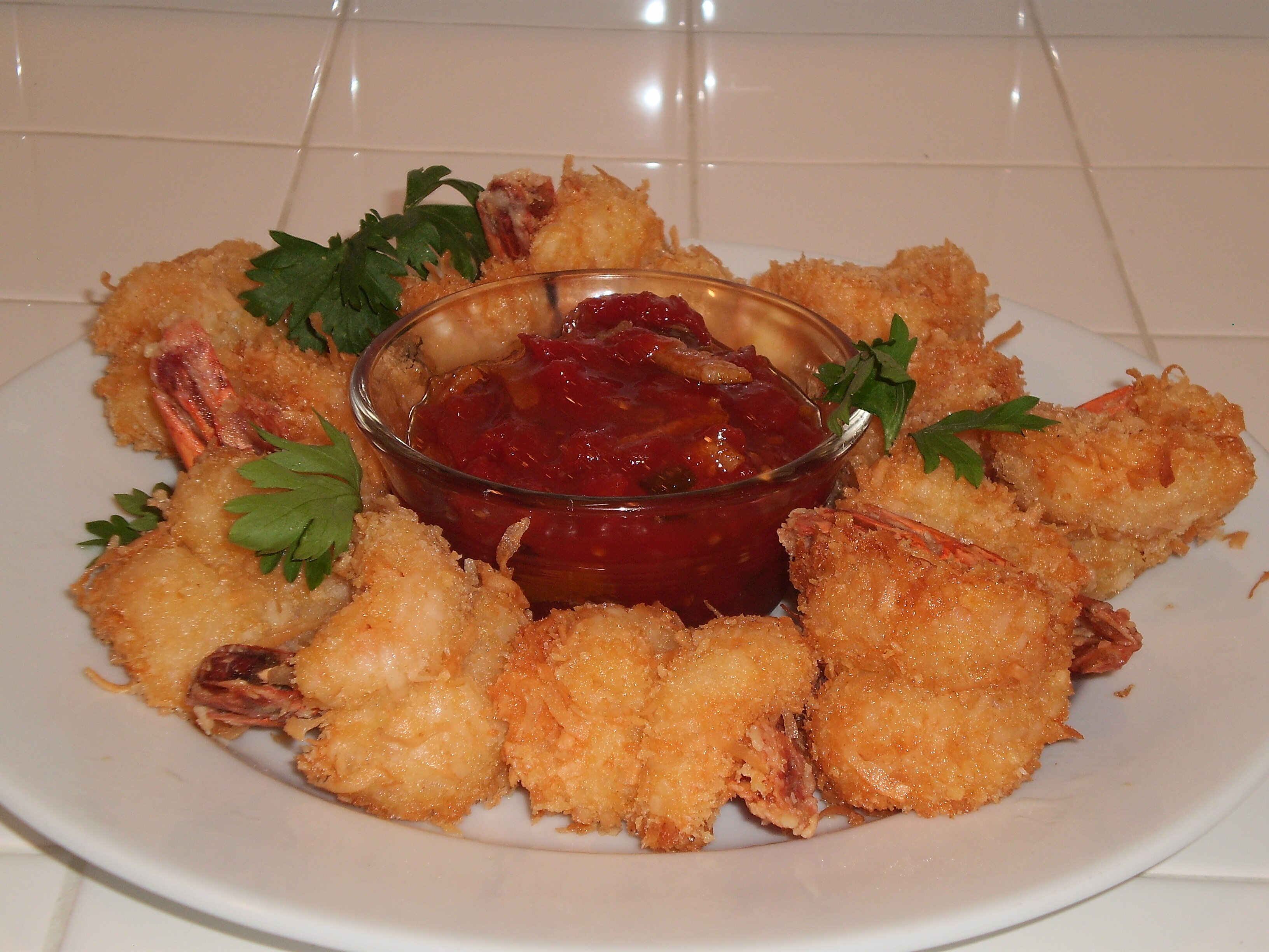 Coconut Shrimp with RoTel Sweet and Spicy Chutney