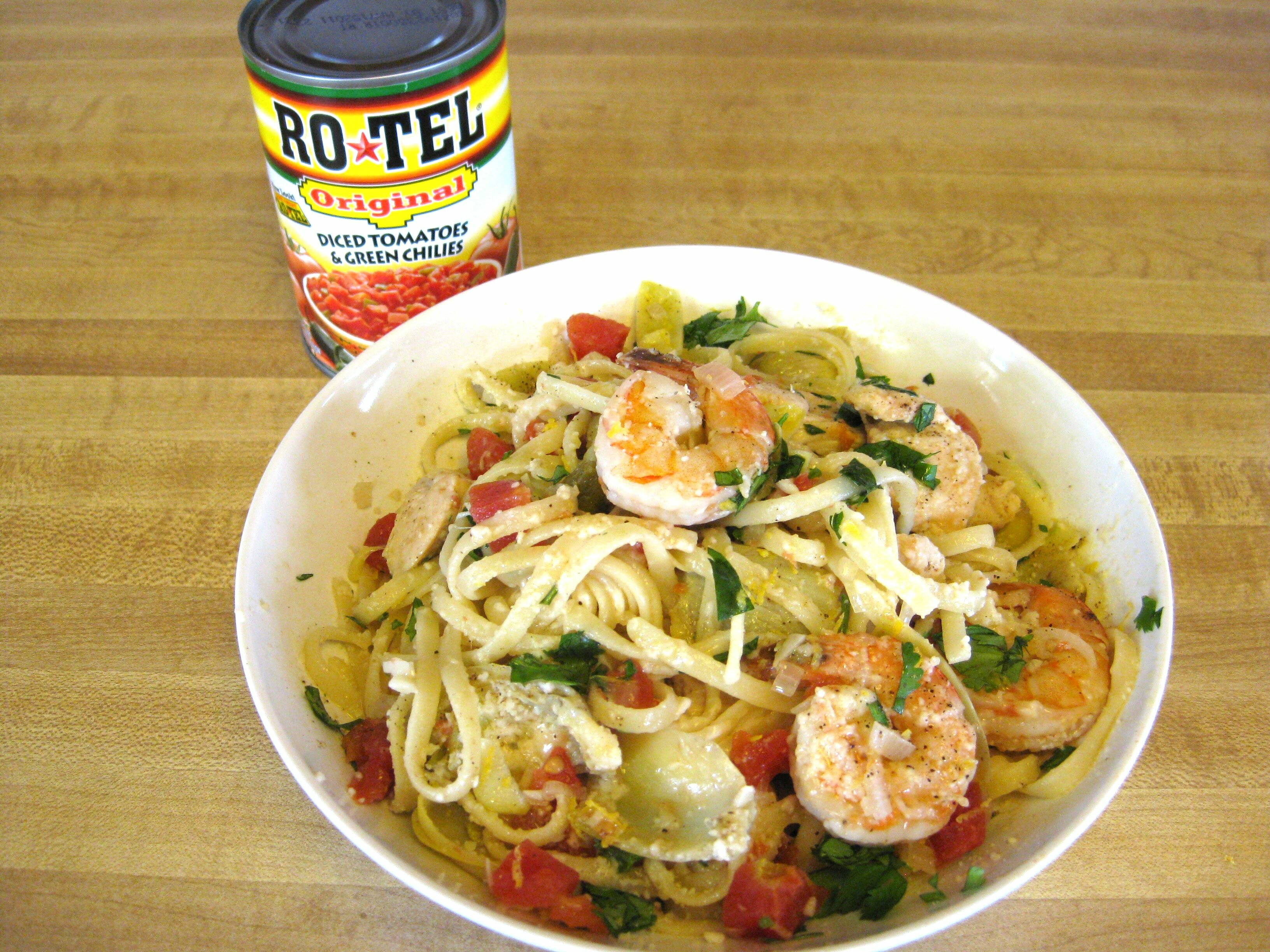 Linguine Ro*Tel with Chicken and Shrimp